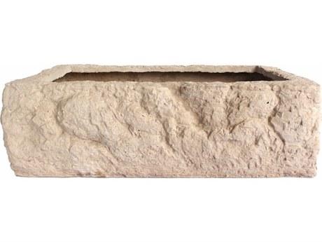 Anderson Teak Alpine Cast Limestone Planter