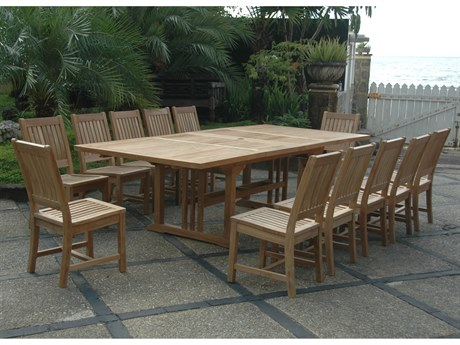 Anderson Teak Sahara Rialto 13-Piece Rectangular Dining Set PatioLiving