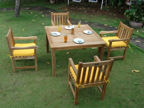 Anderson Teak Windsor Classic Armchair 5-Piece Dining Table Set