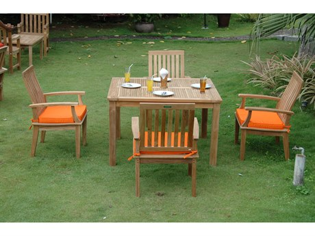 Anderson Teak Windsor Brianna 5-Piece Dining Table Set PatioLiving