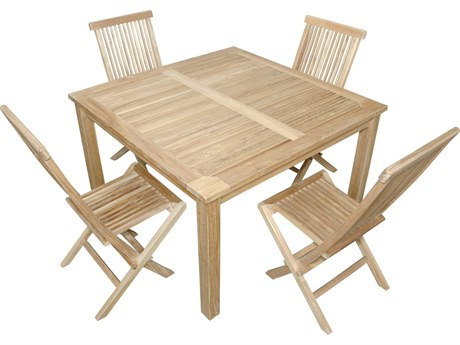 Anderson Teak Windsor Classic Chair 7-Piece Folding Dining Set