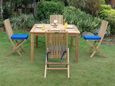 Anderson Teak Windsor Comfort Chair 7-Piece Folding Dining Set