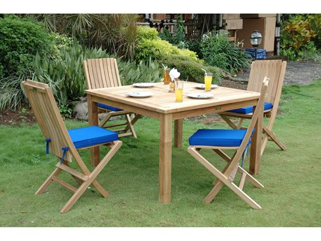 Anderson Teak Windsor Comfort Chair 5-Piece Folding Dining Set