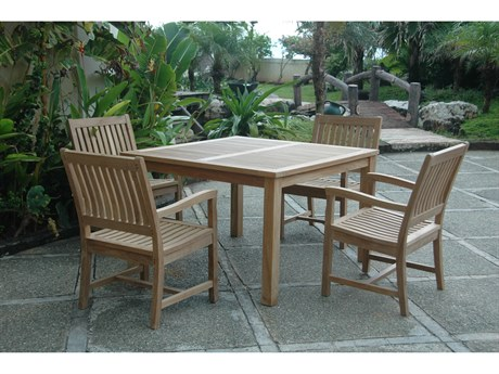 Anderson Teak Windsor Rialto Armchair 5-Piece Dining Set PatioLiving
