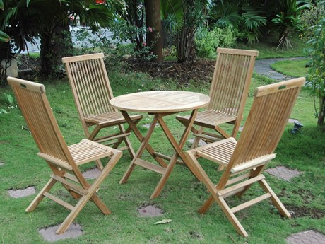 Anderson Teak Classic BistroTable Set PatioLiving