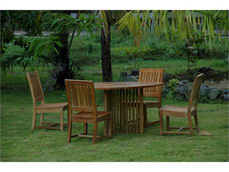 Anderson Teak Mission Rialto 5-Piece Dining Set PatioLiving