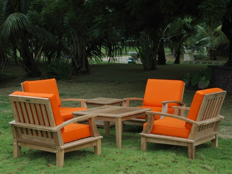 Anderson Teak Brianna Bahama 6-Piece Deep Seating Armchair Set PatioLiving