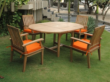 Anderson Teak Bahama Brianna 5-Piece Extension Dining Set PatioLiving