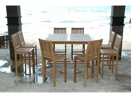 Anderson Teak Windsor Avalon 9-Piece Square Bar Set PatioLiving