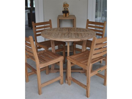 Anderson Teak Descanso Windham 5-Piece Dining Set PatioLiving