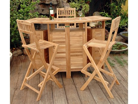 Anderson Teak Altavista 5-Piece Bar Set PatioLiving