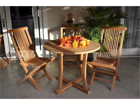 Anderson Teak Descanso Bristol 5-Piece Dining Set PatioLiving
