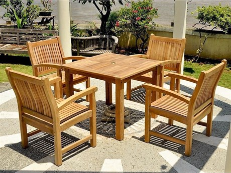 Anderson Teak Bahama Sahara 5-Piece Bistro Table PatioLiving