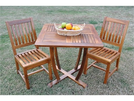 Anderson Teak Rialto Chair Bistro Set with teak oil finished