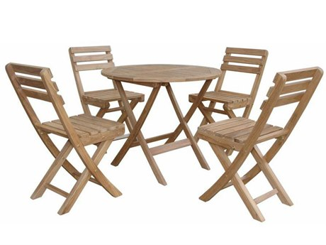 Anderson Teak Chester Alabama 5-Piece Bistro Set