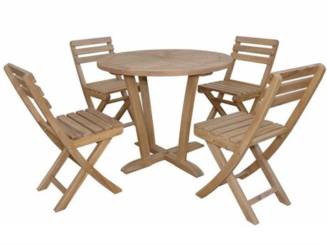 Anderson Teak Descanso Alabama 5-Piece Bistro Set PatioLiving
