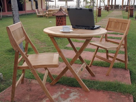 Anderson Teak Windsor 3-Piece Round Bistro Set PatioLiving