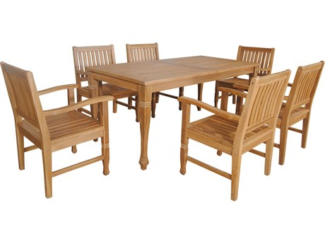 Anderson Teak Rockford 7-Pieces Dining Set