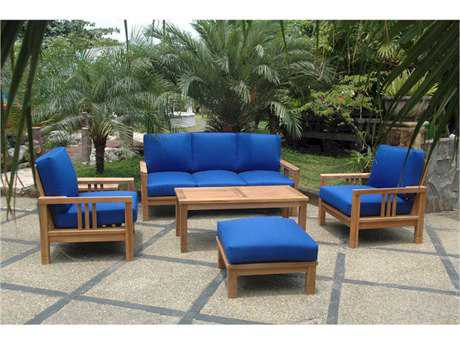 Anderson Teak South Bay Deep Seating Lounge Set AKSET253