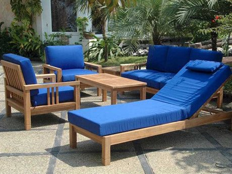 Anderson Teak South Bay Deep Seating Lounge Set AKSET254