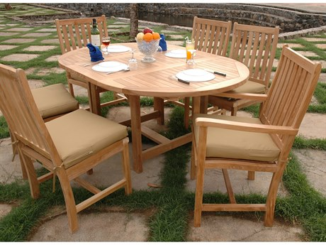 Anderson Teak Bahama Wilshire 7-Piece Extension Dining Set