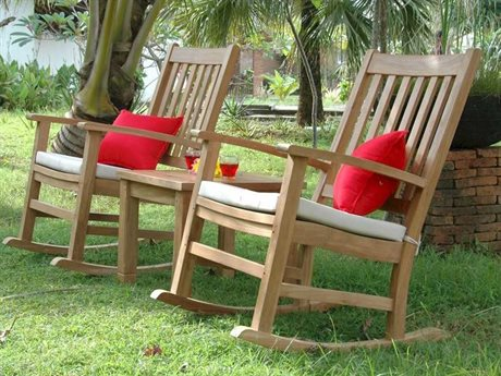 Anderson Teak Palm Beach Rocking Armchair Lounge Set AKSET270
