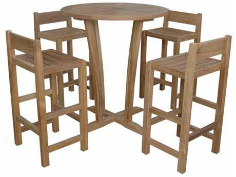 Anderson Teak Descanso Sedona 5-Piece Bar Table PatioLiving
