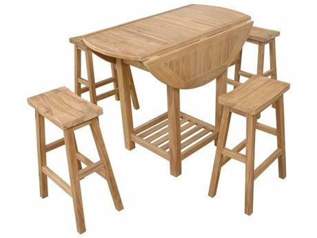 Anderson Teak Seacrest Alpine Rectangular 5-Piece Counter Table Set