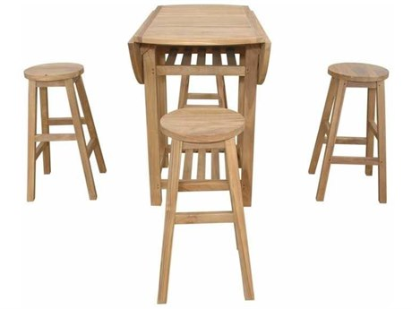 Anderson Teak Seacrest Alpine Round 5-Piece Counter Table Set