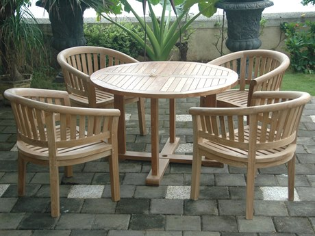 Anderson Teak Tosca 5-Piece Dining Table Set PatioLiving