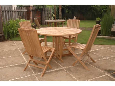 Anderson Teak Butterfly Comfort 5-Piece Dining Table Set