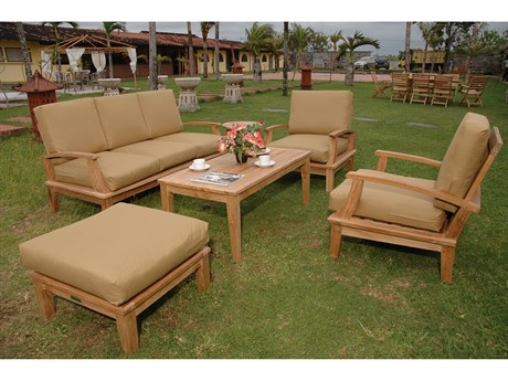 Anderson Teak Brianna 5-Piece Deep Seating Sofa Set PatioLiving