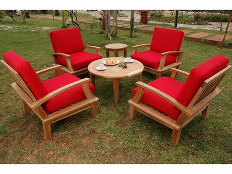 Anderson Teak Brianna 6-Piece Deep Seating Armchair Set PatioLiving