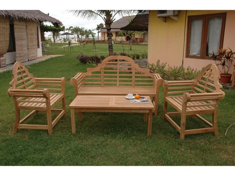 Anderson Teak Marlborough 3-Seater 4-Piece Conversation Set PatioLiving