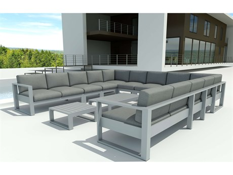 Anderson Teak Lucca Aluminum 13-pieces Sectional Lounge set