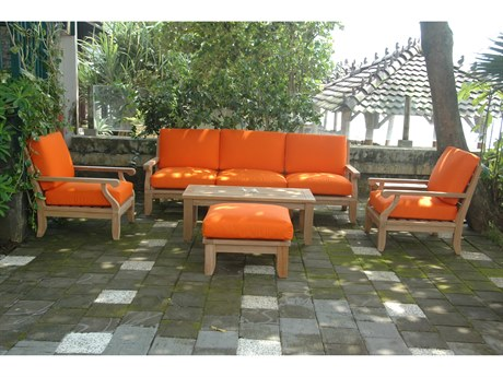 Anderson Teak Riviera Luxe Deep Seating Lounge Set AKSET65
