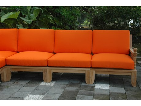 Anderson Teak Luxe Deep Seating Sectional Lounge Set AKSET67