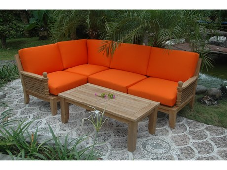 Anderson Teak Luxe 5-Piece Modular Set PatioLiving