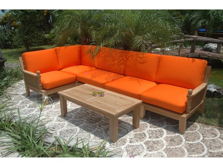 Anderson Teak Luxe 6-Piece Modular Set PatioLiving