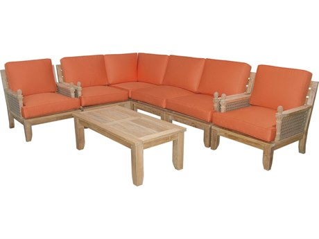 Anderson Teak Luxe 7-Piece Modular Set PatioLiving