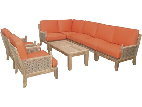Anderson Teak Luxe 8-Piece Modular Set PatioLiving