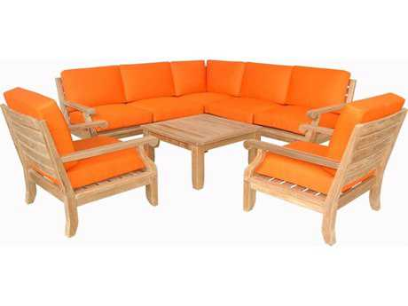 Anderson Teak Riviera Luxe Deep Seating Lounge Set AKSET94
