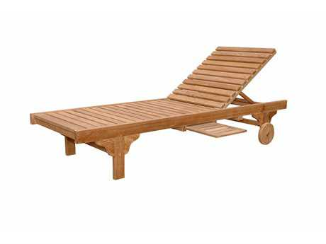 Anderson Teak Capri Sun Lounger Adjusted Back & Side Tray