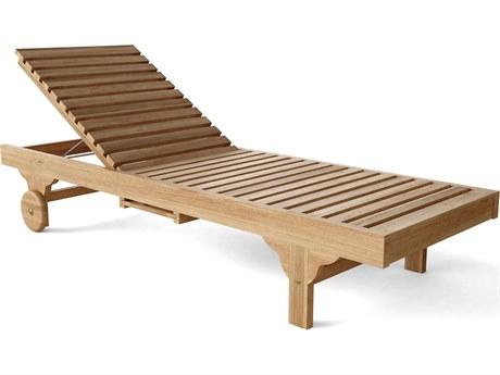 Anderson Teak Capri Sun Lounger Adjusted Back & Side Tray PatioLiving