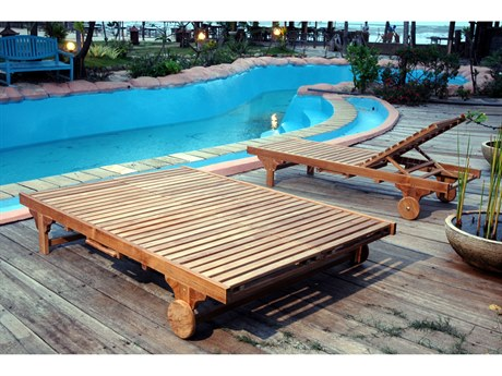 Anderson Teak Bel-Air Double Sun Lounger Double Back