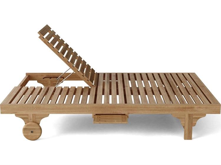 Teak patio chaise lounge chairs
