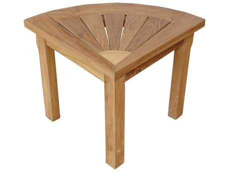 Anderson Teak Shower 27''W x 19''D Corner End Table