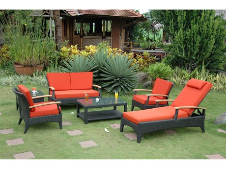 Anderson Teak Bellagio Wicker Deep Seating Set AKSR016DS