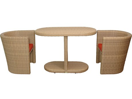 Anderson Teak Barcelona 3-Piece Dinette Table Set PatioLiving