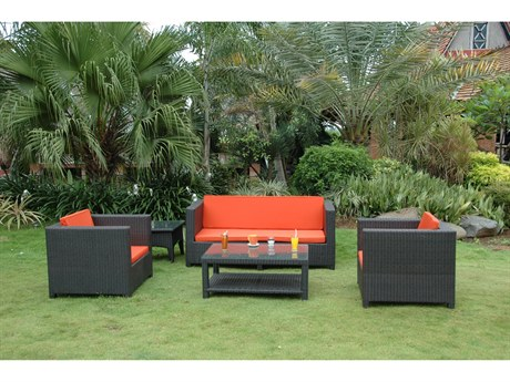 Anderson Teak Wicker Coto De Casa Deep Seating Set AKSR5010